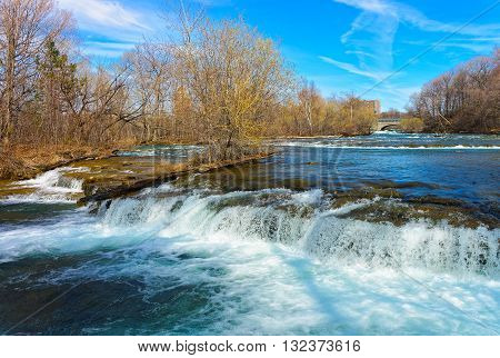 Nature Of Niagara Falls On American Side