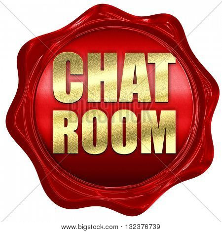 chatroom, 3D rendering, a red wax seal