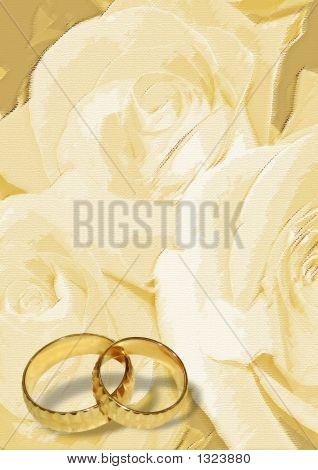 Yellow Wedding Greeting Blank Card