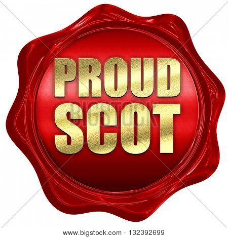 proud scot, 3D rendering, a red wax seal
