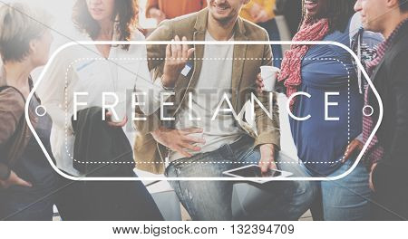 Freelancer Freelance Occupation Job Career Concept