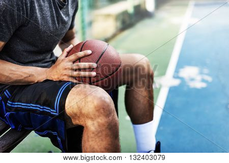 Basketball Athlete Ball Sport League Skill Player Concept