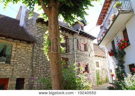Hecho Village Pyrenees Aragon Huesca Spain