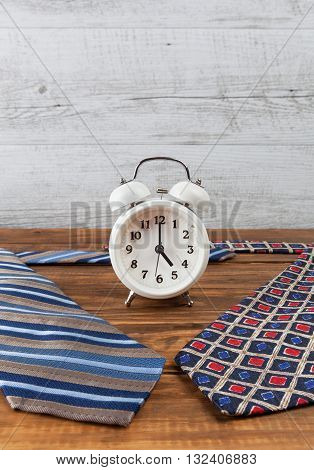 Nine To Five Working Hours Business Concept. Vertical With Copy Space