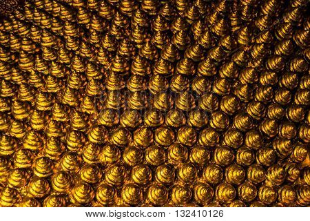 Wat Pho Or Wat Phra Chetuphon,the Temple Of The Reclining Buddha In Bangkok Of Thailand.ornament,gol