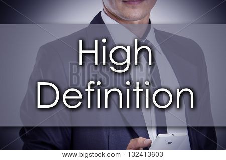 High Definition - Young Businessman With Text - Business Concept