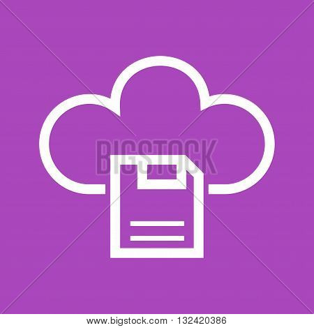 Cloud, storage, backup icon vector image. Can also be used for digital web. Suitable for use on web apps, mobile apps and print media.