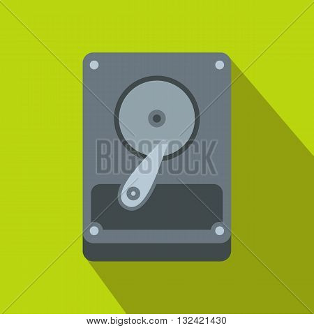 HDD icon in flat style on a green background