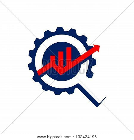 business process gear and creative business concept graph