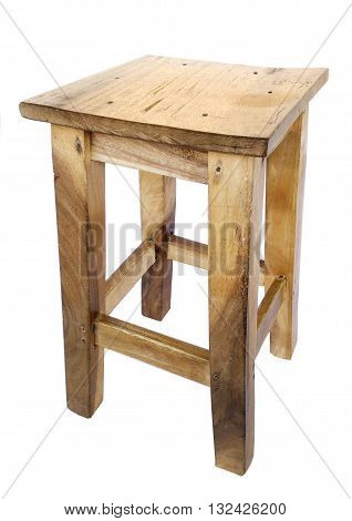 Stool wooden isolated for background and dicut