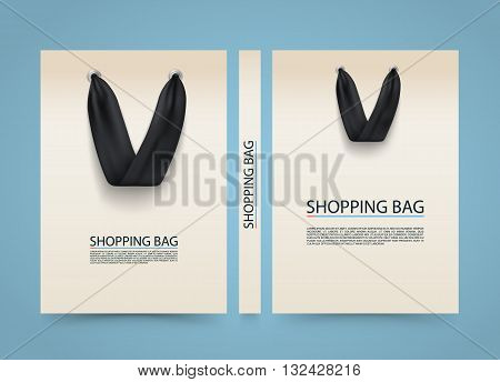 Paper bag cover, Shopping Bag advertising banner, A4 size book, Vector illustration