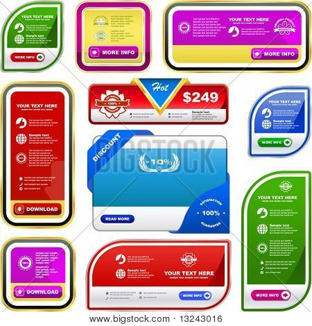 Vector banner set for sale. Great collection.