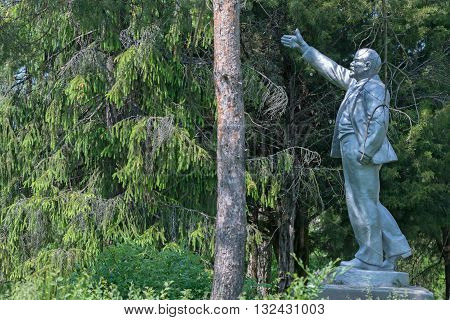 Monument to the first leader USSR Vladimir Lenin. Such sculptures were very popular and can easily be met on territory of former USSR