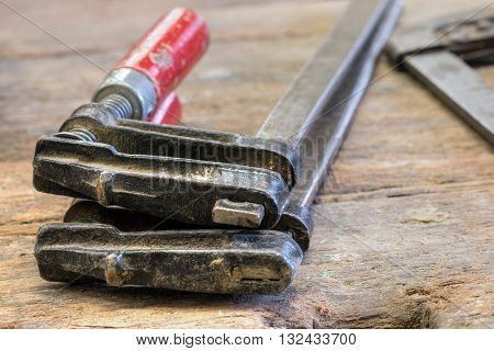 Detail of the clamping tools - carpentry tools - chucking tool