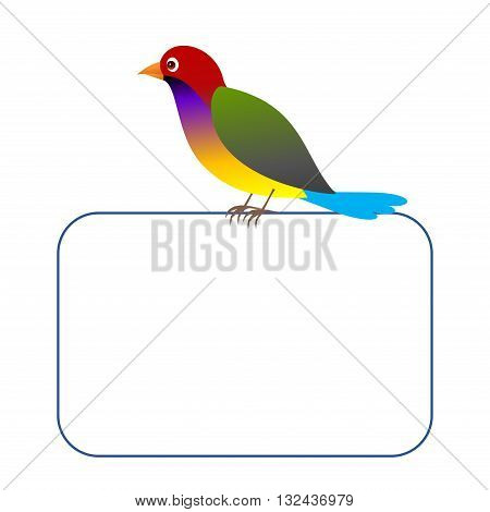 Clipart picture of a crocodile bird character holding a blank board.