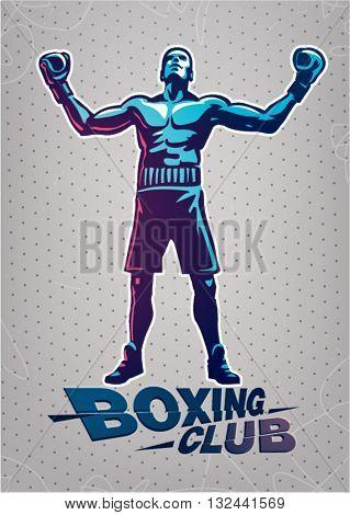 Boxer. Sport logo illustration