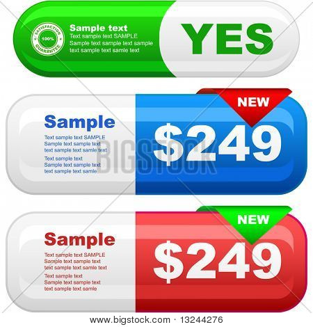 Vector set of sale banner