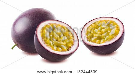 Passionfruit passion fruit maraquia double options isolated on white background as package design element