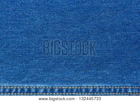 Blue Jeans texture with seams for background