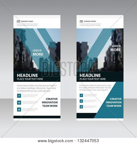 Blue black Business Roll Up Banner flat design template Abstract Geometric banner template Vector illustration set abstract presentation template