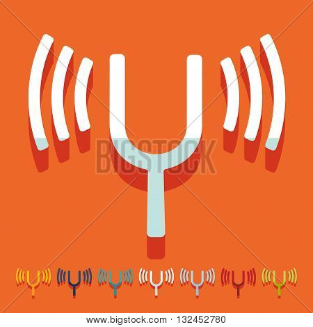 It is a illustration Flat design: tuning-fork