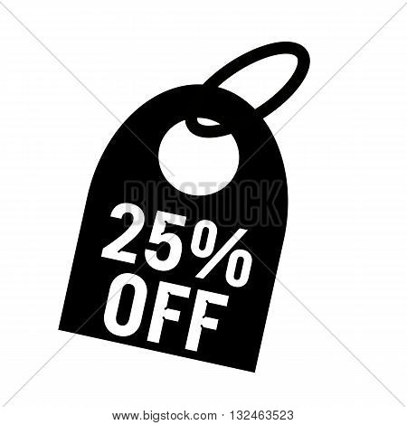 25% OFF white wording on background black key chain