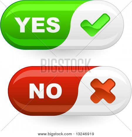 Yes and No buttons.