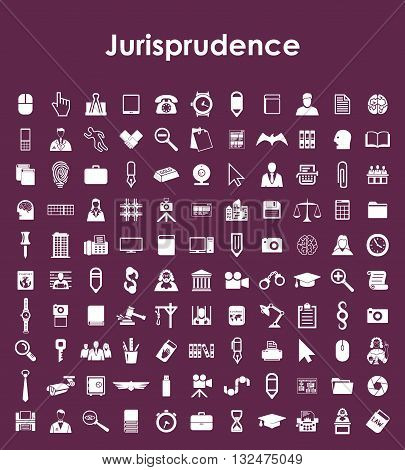 It is a illustration Set of jurisprudence simple icons