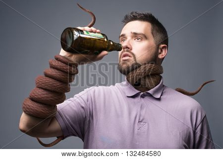 drunken / drunker / alcoholic / alcoholism concept art