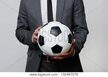 Emloyer with soccer ball