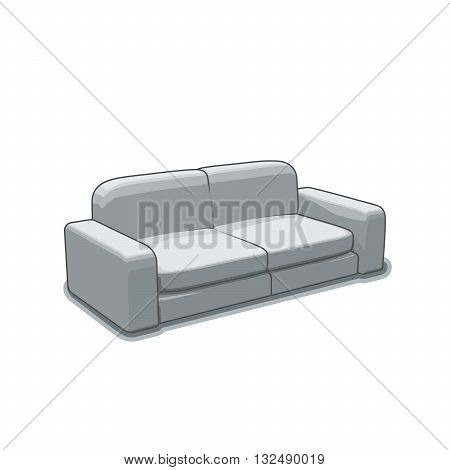 Sofa or couch vector illustration. 3d vector sofa or couch. Vector furniture. Furniture illustration of sofa or couch