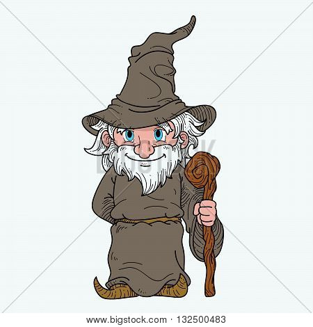 Vector illustration of a wizard as mascot