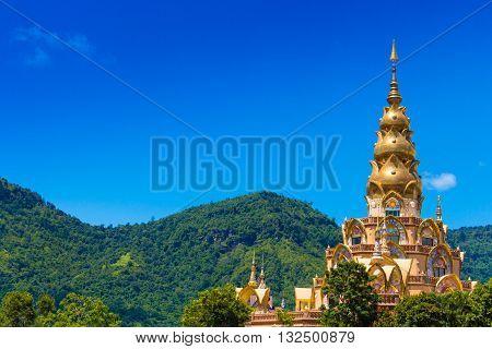 A buddha of Pha-sorn-kaew Temple in Petchabun province, Thailand
