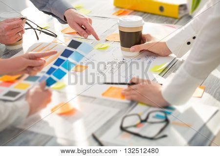 Brainstorming Brainstorm Business People Design Planning - stock image.