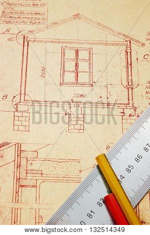 The design for a building country house
