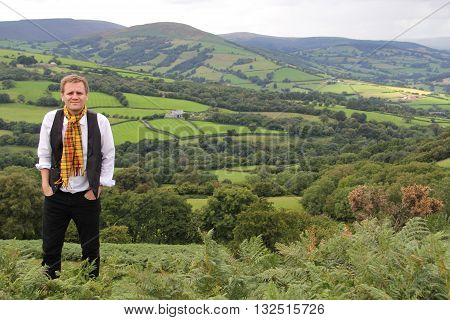 SOUTH WALES - OCT 17: Author and illustrator Lorin Morgan-Richards on August 3, 2013 outside of Tredegar, Wales, UK.