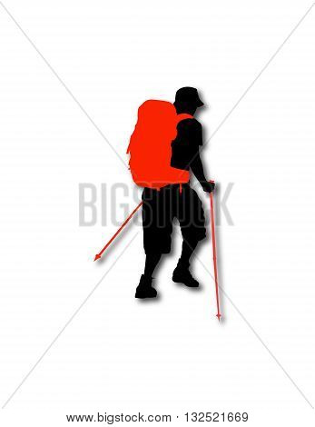 Hiker Man 2 .eps