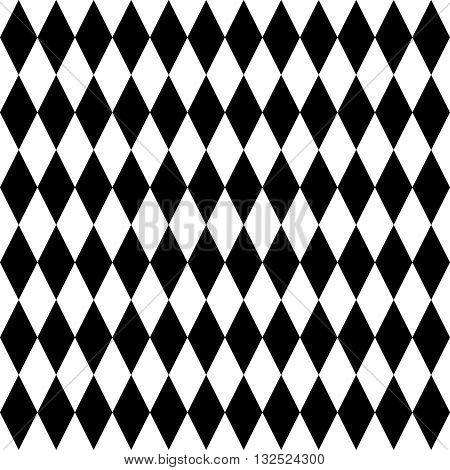 Tile black and white background vector pattern
