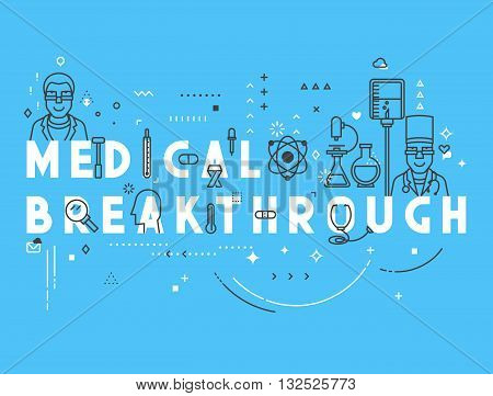 Medicine concept breakthrough. Creative design elements for websites, mobile apps and printed materials. Medicine banner design