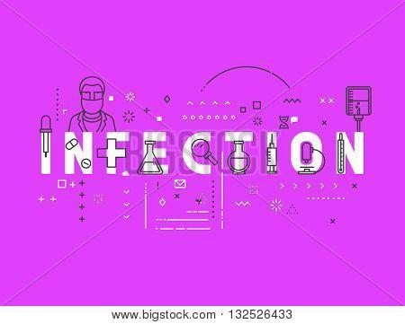 Medicine concept infection. Creative design elements for websites, mobile apps and printed materials. Medicine banner design