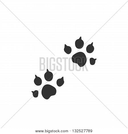 Animal trail icon on white background. Animal trail logo element for template. Modern vector pictogram for web graphics. Flat design style. Vector illustration. - stock vector