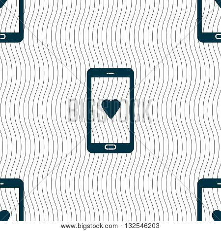 Love Letter, Valentine Day, Billet-doux, Romantic Pen Pals Icon Sign. Seamless Pattern With Geometri