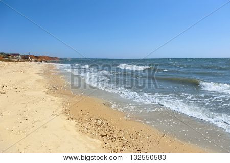 Beautiful seacoast  on a sunny day