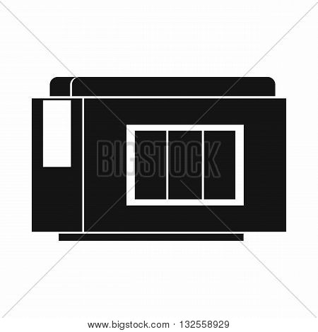 Inkjet printer cartridge icon in simple style isolated on white background
