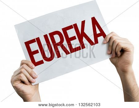 Eureka placard isolated on white background