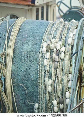 Fishing net on a boat in Australia