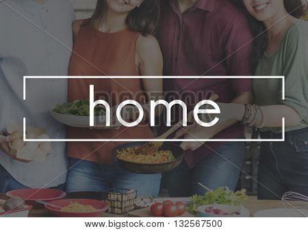 Home Food And Beverage Eating Delicious Party Celebration Concept