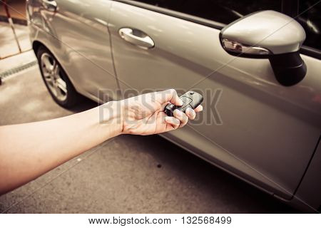 Handing hold the keys to a used car
