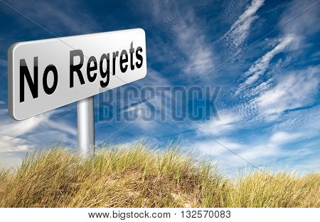 Regret or no regrets saying sorry and offer apologize being ashamed for bad decisions 3D illustration