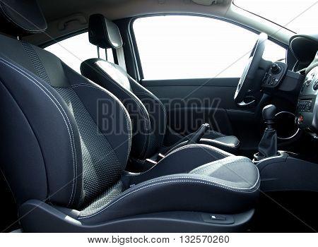Headrest on sport seats inside the car